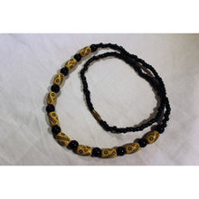 Load image into Gallery viewer, African Black & Brown Beads With Cultural Markings Necklace