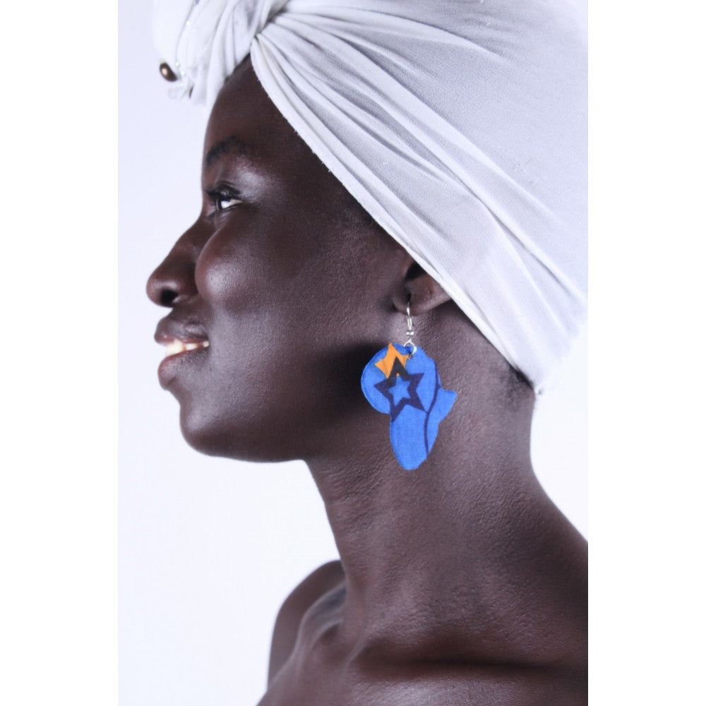 Blue Africa Star Earrings
