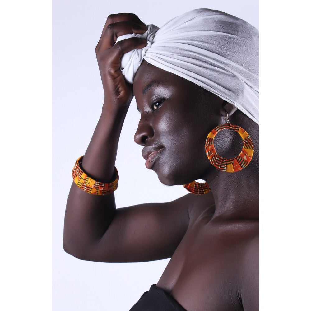 Gambian Sunset Earrings & Bracelet Combo