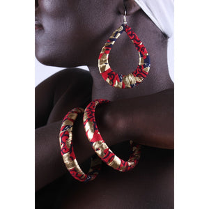 Golden River Earrings & Bracelet Combo