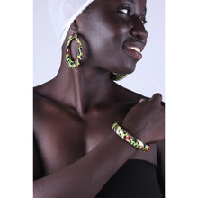 Load image into Gallery viewer, Golden Cheetah Earrings & Bracelet Combo