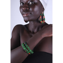 Load image into Gallery viewer, Green Mamba Earrings & Bracelet Combo