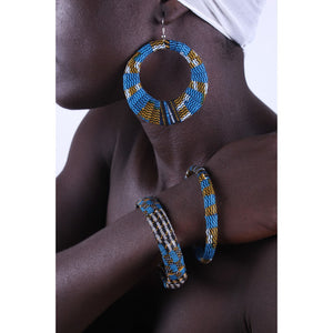 River Flow Earrings & Bracelet Combo