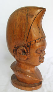 Gambian Man Solid Wood Chest Statue