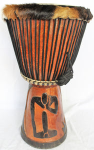 Large Rare Professional Africa Djembe