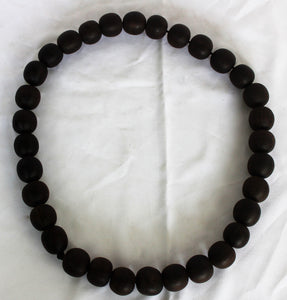Real Ebony Necklace Black