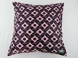 Small Pink & Black Pillow Cases Set of 2