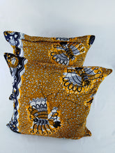 Load image into Gallery viewer, Small Black Bird Ankara Style Cushions - Set of 2
