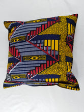 Load image into Gallery viewer, Small Zig Zag Ankara Style Cushions - Set of 2