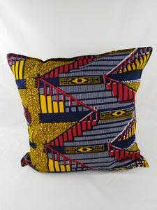 Small Zig Zag Ankara Style Cushions - Set of 2