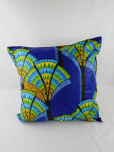 Load image into Gallery viewer, Small Green & Yellow Flower Ankara Style Cushions - Set Of 2