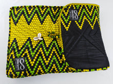 "Load image into Gallery viewer, Cowrie Yellow & Green Ankara Style ""15"" Inch Laptop Bag"