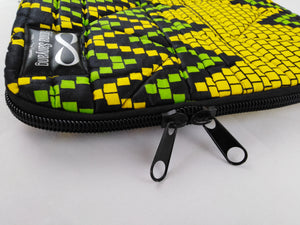 "Zip Yellow & Green Ankara Style ""11"" Inch Laptop Bag"