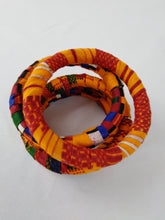 Load image into Gallery viewer, Colorful African Ankara Wax Print Bangle Set