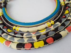 Stylish Light Colorful African Ankara Wax Print Necklace