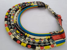 Load image into Gallery viewer, Stylish Light Colorful African Ankara Wax Print Necklace