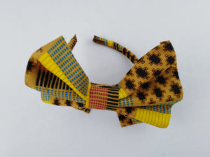 African Print Colorful Yellow Pattern Ankara Hair Band
