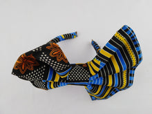 Load image into Gallery viewer, African Print Colorful Blue Pattern Ankara Hair Band