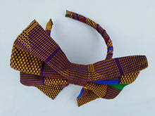 Load image into Gallery viewer, African Print Colorful Purple Pattern Ankara Hair Band