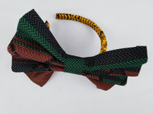 Load image into Gallery viewer, African Print Colorful Brown Pattern Ankara Hair Band