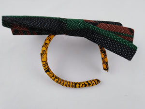 African Print Colorful Brown Pattern Ankara Hair Band
