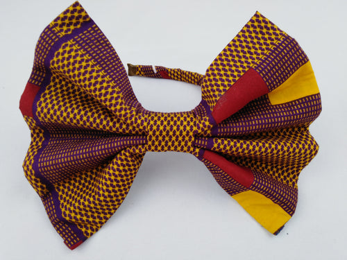 African Print Colorful Purple & Yellow Pattern Ankara Hair Band