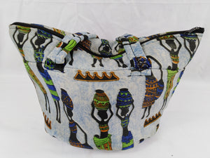 African Women Ankara Pattern Shoulder Bag Medium