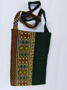 African Green & Mixed Ankara Pattern Pouch