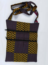 Load image into Gallery viewer, African Purple & Mix Ankara Pattern Pouch