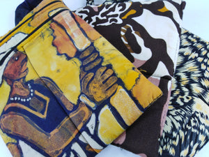 African Mix Ankara Pattern 3 Set Pouches