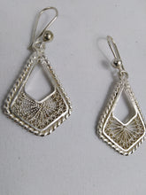 Load image into Gallery viewer, African Triangle Silver Earrings