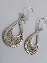 Load image into Gallery viewer, African Semi Circle Silver Earrings
