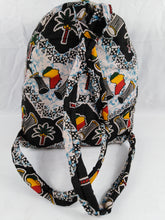 Load image into Gallery viewer, African Djembe Multi Pattern Ankara Backpack Medium