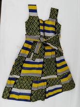 Load image into Gallery viewer, African Tricolor Multi Pattern Kids Dress