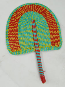African Double Color Multi Pattern Fan