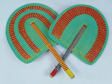 Load image into Gallery viewer, African Double Color Multi Pattern 2 Set Fan