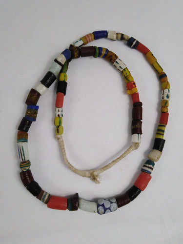 African Traditional Sand Stone Multi Pattern Necklace