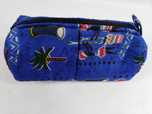 African Authentic Ankara Dark Blue Pouch