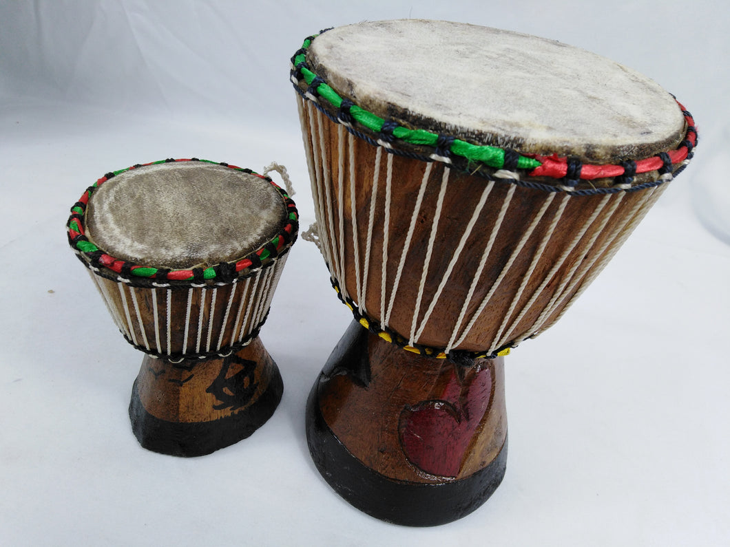 African Djembe Musical Instrument Mini 2 Set