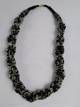 Load image into Gallery viewer, Elegant Black & White Knotted Beads Necklace