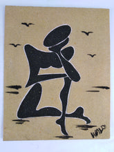 Load image into Gallery viewer, African Thinking Man Sand Painting