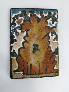African Baobab Tree Sand Painting Fridge Magnet