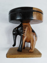 Load image into Gallery viewer, African Wooden Carved Small Elephant Ash Tray