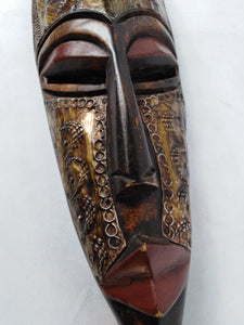 African Golden Warrior Mask