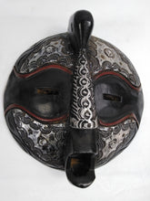 Load image into Gallery viewer, African Round Head Black & Silver Mask