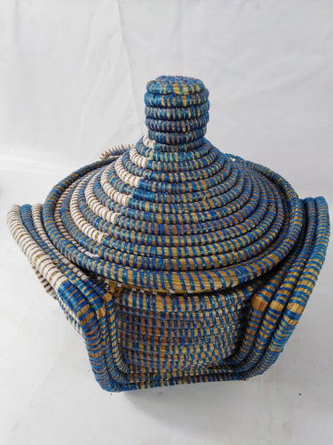 Cool Shaped African Handmade Traditional Table Basket Medium