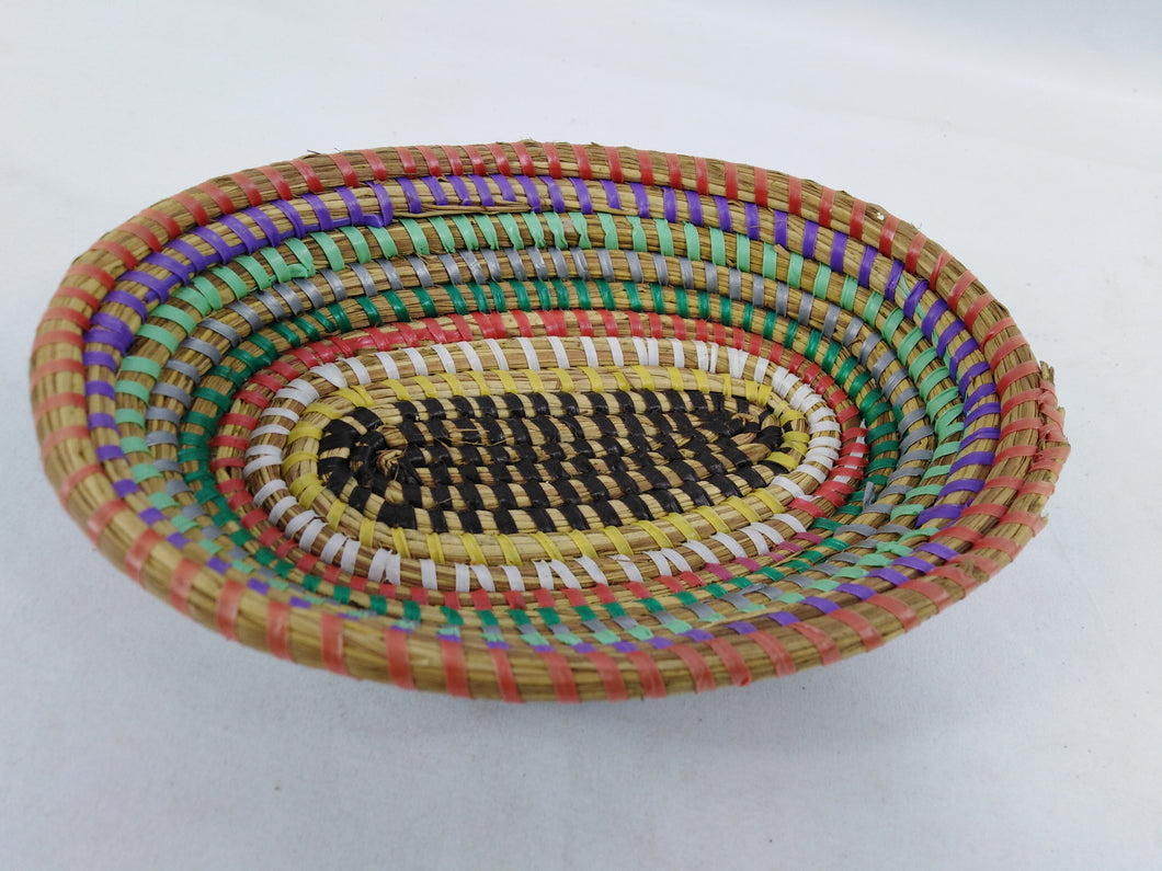 Colorful African Handmade Traditional Table Basket Small