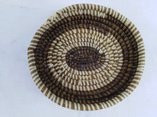 Load image into Gallery viewer, Double Color African Handmade Traditional Table Basket Small