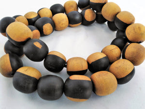 Rare Ebony Wood Necklace & Ear Ring Black & Brown