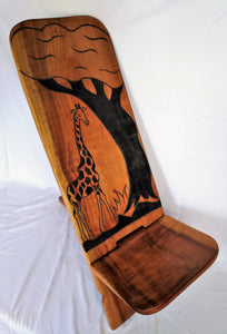 Mahagony Chair Giraffe & Tree